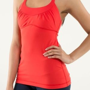 Lululemon Scoop Me Up red tank (Size 6)